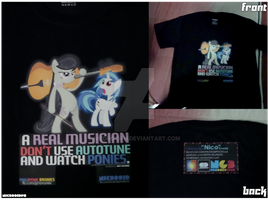 Finished PH Brony Musician T-shirt by NicDroidPH