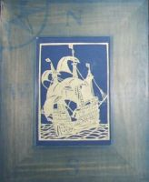 Sailing Ship - Paper Cutting by maiacallia