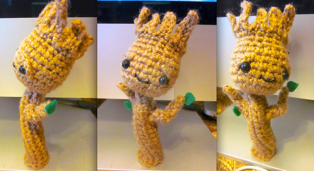 Guardians of the Galaxy Wee Lil Groot Amigurumi 1 by Spudsstitches