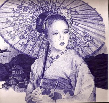 geisha by Volpibr