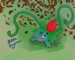002 Ivysaur - One Hour Pokemon series by MattOfSteel