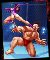 Hyacinth Vs Zangief - Part 1 by ZabZarock