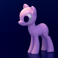 WIP - 3D Pony by Feyrah