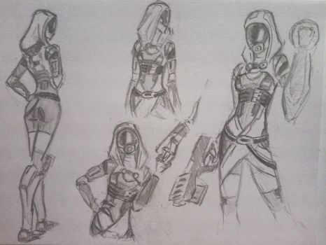 sketches Tali (3) by spaceMAXmarine