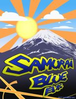 Samurai Blue Fuji by AdamTupper