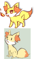 Fennekin by Mousu