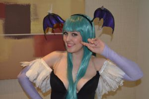 Morrigan Aensland - Darkstalkers - Smiley! by madevilman