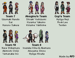 Naruto Sprites by AfO - EDIT 2 by afo2006
