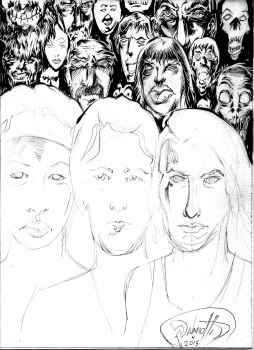 Women of the Walking Dead WIP by PeterPalmiotti