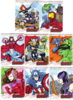 Avengers age of Ultron oficial sketch cards 19-26 by mdavidct