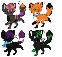Adoptable set 2 by Fangkitty-Adopts