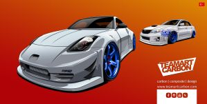 Nissan 350Z-TEAMART CARBON EDITION-edcgraphic by edcgraphic