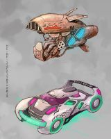 Cars concepts sketch by AspectusFuturus