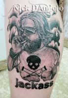 Ryan Dunn Tattoo by NickDAngeloTattoos