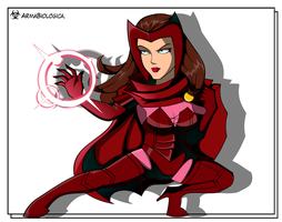Scarlet Witch colored by ArmaBiologica