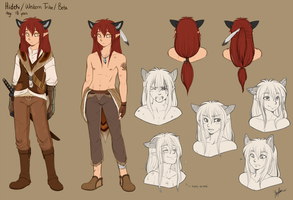 . Hideki character sheet . by thestoneycoyote