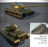 Conqueror - British Tank by shareck