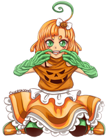 Commission - Pumpkin Girl by Czhe