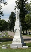 Mount Olivet Cemetery Woman 147 by Falln-Stock