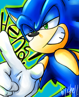 sonic sketch  Finish by chellchell