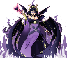 Goddess of Darkness! Lilithmon by AdrianoL-Drawings