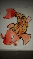 Koi fish using ink and water colours by sammiro25