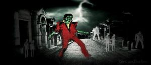 THRILLER TIME - LINE ART STYLE :) by KerensaW