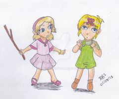 Childhood I- ZeLink by Niarahime