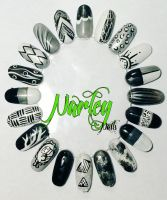 Greyscale Nail Wheel by NarleysZone
