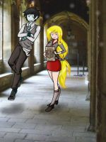 Fionna and Marshall Lee - in Hogwarts by JuliaLucky