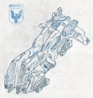 Gallente Battleship Megathron by novafox