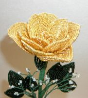14k Gold Beaded Rose by Lady-Blue