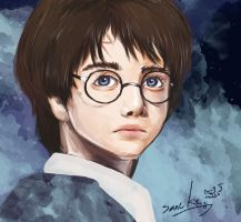 harry potter portrait commish by namazuchi