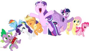 The Mane 7.5 by Soren-the-Owl