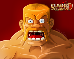 Barbarian (clash of clan fanart)  by ninjakimm