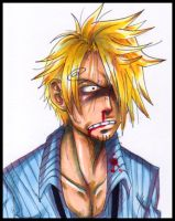 Copic Practice ++ Sanji by MoonNeko