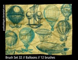 Brush Set 32 - Balloons by punksafetypin