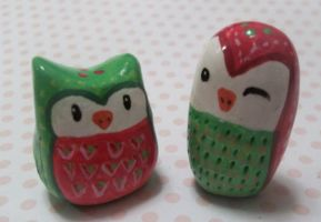 Owl Sugar Berry Set by Drunk-Kittens