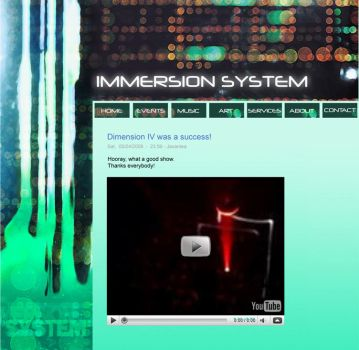 Immersion System site design by ClearSkySuite