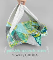 Sewing Tutorial: Furoshiki Casserole Carrier by SewDesuNe