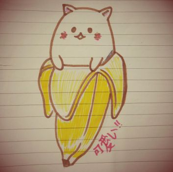 Bananya - The Banana Cat Thingy by ashhishnocturne