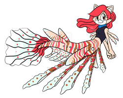 Elyza the Lionfish Mermaid by SallyVinter