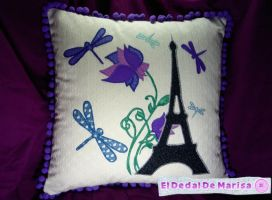Paris Pillow 2 by MrsSewing