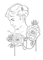 amelie poulain tattoo design outline by ziuuziuu