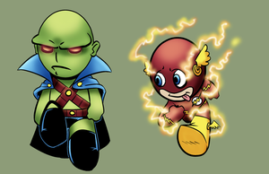 two more DC hero babies/chibis by RobTorres