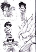 Gohan Sketches 1 by shadesoflove