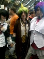 Amaimon and Mephisto Cosplay at Comic Con by jinxxnixx