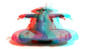 Separatist Droid Tank 3D Anaglyph by zentron
