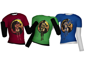 MK girls shirts DL by Theshadowman97