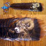 Featherpainting - Bighorn Ram by Novawuff
